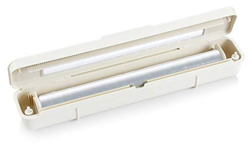 Tescoma 899478 FlexiSPACE Dispenser per Pellicola Trasparente e Alluminio, Bianco