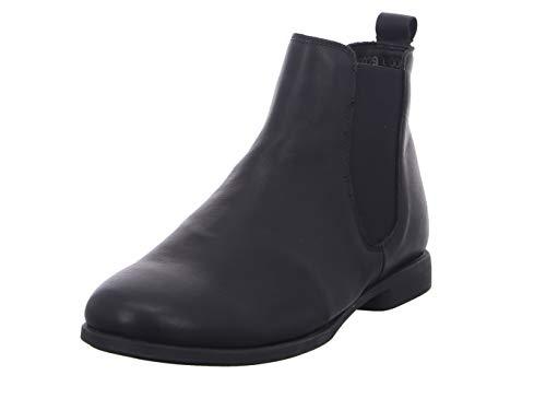 THINK! Damen AGRAT_3-000029 leder gefütterter, nachhaltiger Chelsea-Boots, 0000 Schwarz, 41.5 EU