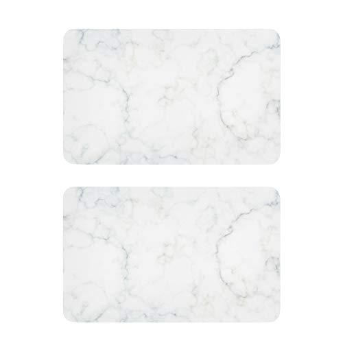 Imanes de refrigerador de mármol blanco divertido arte imanes decorativos tag1 2 piezas