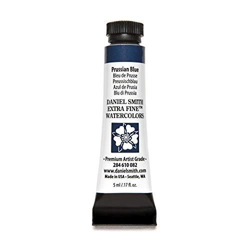 DANIEL SMITH 284610082 Extra Fine Watercolors Tube, 5ml, Prussian Blue
