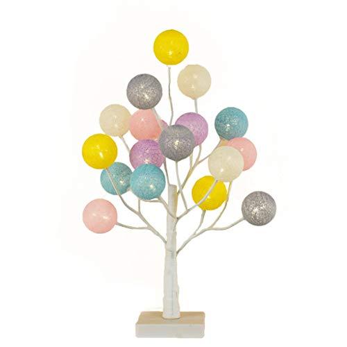 Z-HOMZYY 45 cm decoratieve tafellamp, verstelbare boom-bedlamp, 18 warmwitte ledlampjes - voor de bruiloft, woonkamer, slaapkamer, party, home cadeau-decoratielamp #1
