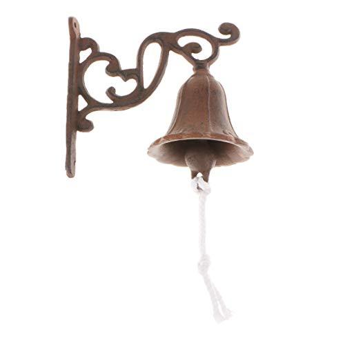 HomeDecTime Campana De Puerta De Hierro Fundido Vintage Timbre Montado En La...