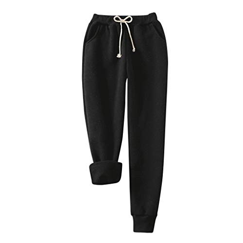 LIM&SHOP🌻Sherpa Lined Athletic Fleece Lined Thick Tights Pant Winter Warm Women Velvet Elastic Legging Sweatpant Jogger
