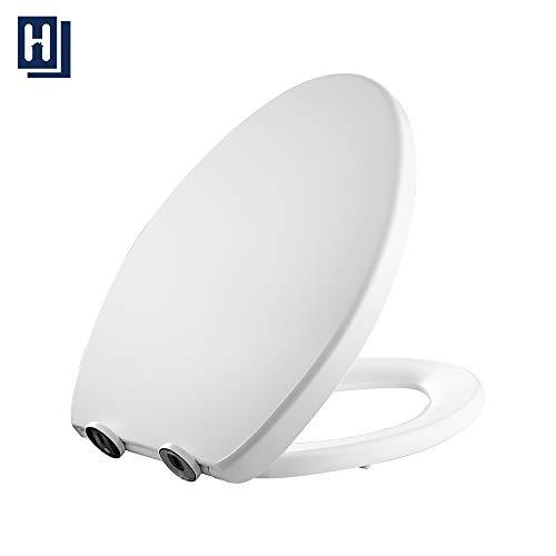 Toilet Seat, HOMELODY Elongated White Toilet Seat,...