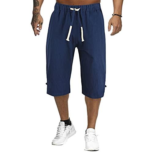 DongBao Pantalones Cortos Casuales de Carga al Aire Libre para Hombres con Cintura elástica
