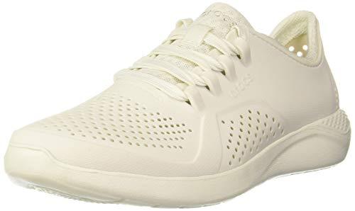 Crocs womens Literide Pacer Sneaker, Almost White, 9 US