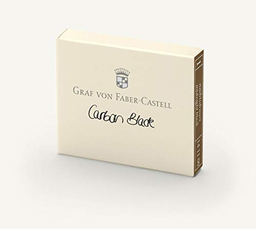 Faber-Castell Graf Carbon Black - Cartuchos de tinta negra (6 unidades), color negro carbón