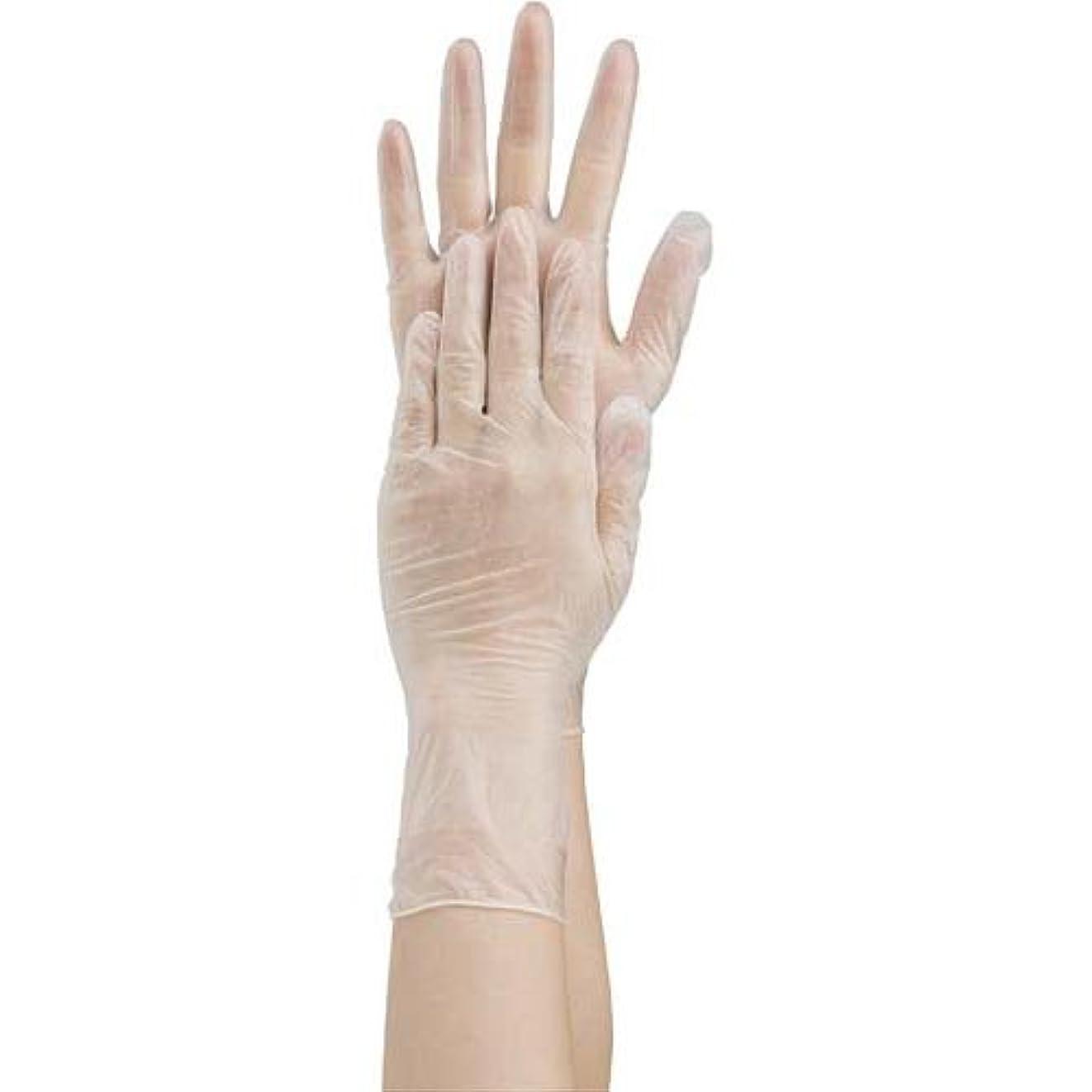 トロリーバス調整する矢じり共和 プラスチック手袋 粉付 No.1500 L 10箱