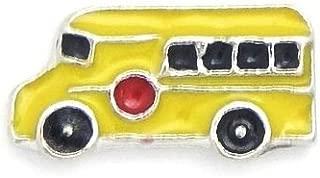 Cherityne School Bus Floating Charm for Locket Pendants