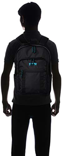 [スラッシャー] [ユニセックス] リュック 25L (撥水加工)[ THR-138 / Backpack ] おしゃれ A4収納 BKBL_ブラック・ブルー