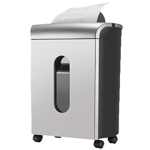 Akk Trituradora de Papel de 10 Hojas 5x13mm, Cross Cut CD y Card Shredder Machine para Grandes Oficinas y Uso Doméstico, Contenedor Extraíble de 17 litros, Blanco