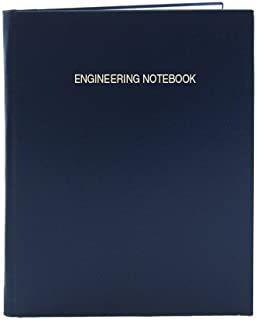 """BookFactory Blue Engineering Notebook/Graph Paper Notebook 168 Pages (.25"""" Lab Grid Format), 8 7/8"""