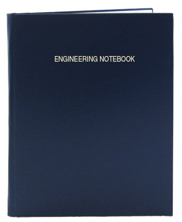 """BookFactory Blue Engineering Notebook/Graph Paper Notebook 168 Pages (.25� Lab Grid Format), 8 7/8"""" x 11 1/4"""", Blue Cover, Smyth Sewn Hardbound (LIRPE-168-LGR-A-LBT4)"""