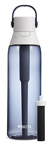 Brita Hard Sided Premium Filtering Water Bottle, 26 Ounce, Night Sky
