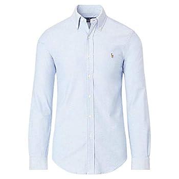 Mens Classic Fit Oxford Longsleeve Buttondown Shirt  Large ClassicBlue
