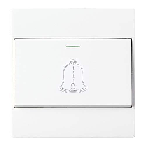 Interruptor Tipo de Conector Hembra PC Pared Timbre de la Puerta de Control Individual, Enchufe de la UE, Monsteramy