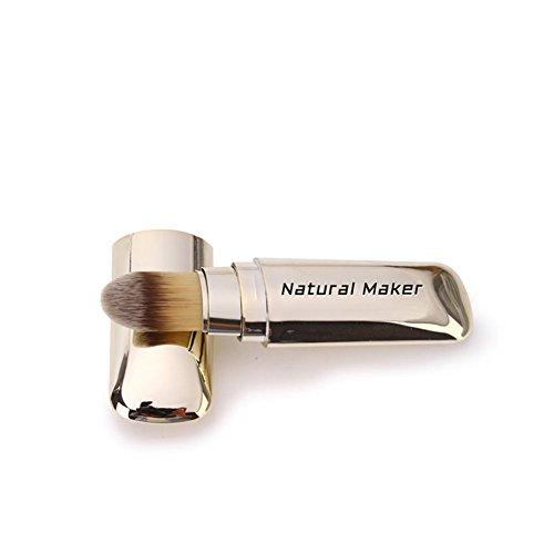 Make-upbürste Der Natürlichen Grundlage, Gesicht Ohne Fussige Weiche Und Staubdichte Puderbürste,...