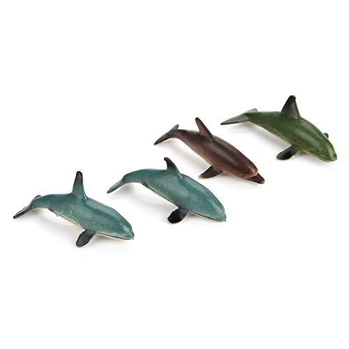 Okuyonic Giocattolo di plastica per Animali marini, Regalo per Bambini Giocattolo Modello Animale Morbido in plastica vivido per Gli Amanti degli Animali