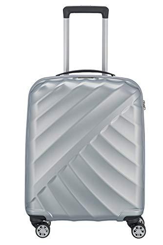 """TITAN """"SHOOTING STAR"""" von TITAN®: Robuste Hartschalen-Trolleys in coolem Metallic-Look in 4 Trendfarben Koffer, 55 cm, 40L, Silver"""