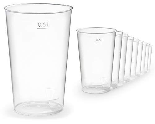 50x Gobelet en plastique de 500 ml vol. en plastique, gobelet en plastique incassable pour tous les événements, petits et grands.