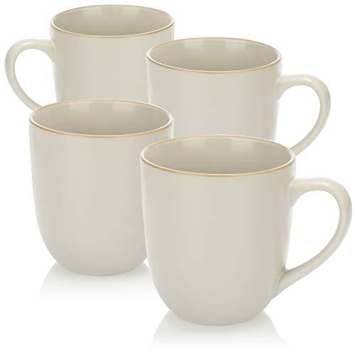 com-four® 4X Kaffeetasse XL - Kaffeebecher groß im zeitlosen Design - 500 ml Kaffeepott - Jumbotasse spülmaschinengeeignet