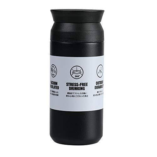 EKKONG Bottiglia Termica, 350 ml Mug Thermos Freddo,Tazze Caffe tè da Viaggio, Doppia Bottiglia per Vuoto in Acciaio Inossidabile, Prova di Perdite, Riutilizzabile, per Auto Ufficio Sportiva