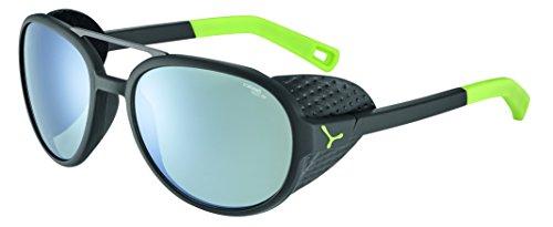 Cébé Summit Gafas de Sol, Unisex Adulto, Matt Black/Lime, Medium