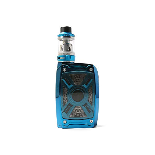Original Teslacigs XT 220W Box Kit with Tallica Mini Atomizer Tank 4ml Tesla XT Box Mod Vape 21700/20700/18650 (Blue)