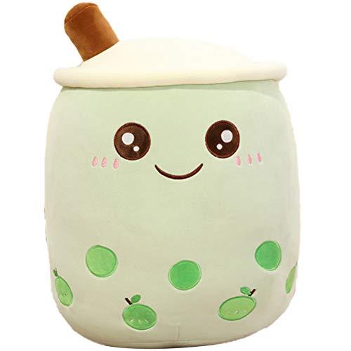 AIJIANG Juguete de peluche de peluche de 35 cm, diseño de burbujas de té de peluche de leche y té suave de la muñeca de la taza de té cojín de los niños de regalo de cumpleaños