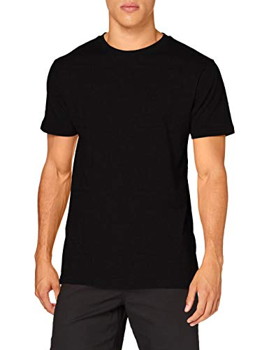 Build Your Brand Mens Round Neck T-Shirt, Black, L