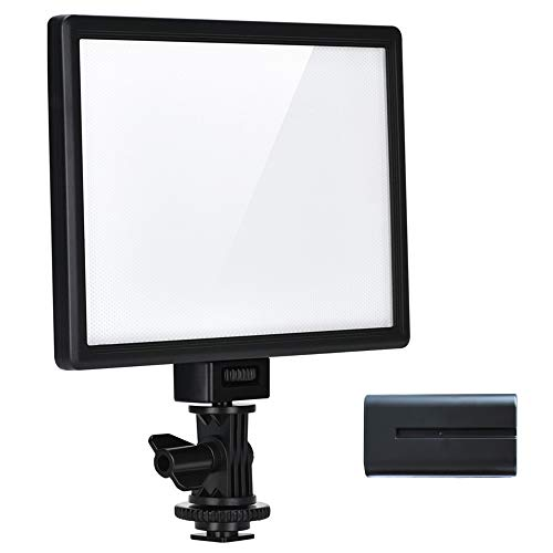 VILTROX L116T RA CRI95 Super Slim LED Light Panel,3300K-5600K LED Video Light Panel, LCD Display Screen,Color Temperature and Brightness can be Adjusted with NP-F550 Lithium Battery