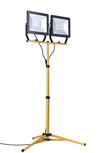 Northpoint LED Baustrahler Arbeitsstrahler mit Stativ Fluter 200W Leistung 16000 Lumen Lichtstrom 160cm Stativ 5m Zuleitung mit Schalter