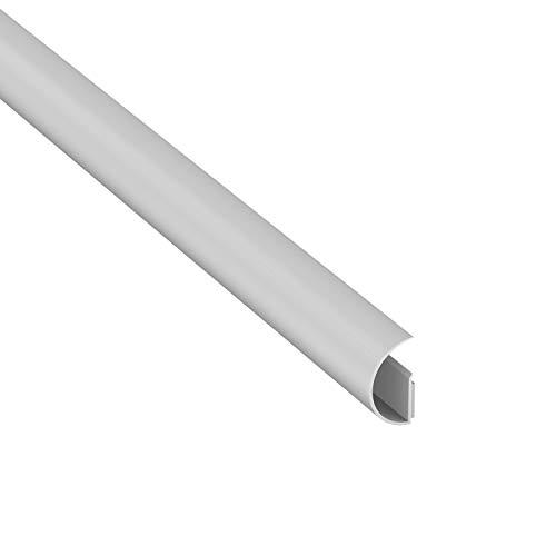 Mini CableTraC de D-Line 1MCT3015W, Popular Cubrecables, Solución Pasacables en Blanco, Versátil Solución para la Gestión de Cables - 30 mm (An.) x 15 mm (Al.) x 1 m (L), Color Blanco