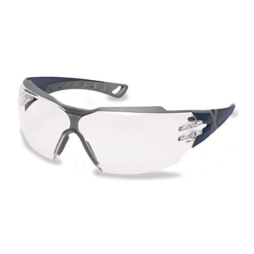 Uvex pheos cx2 Schutzbrille - Beschlagfrei & Kratzfest - Transparent / Blau-Grau