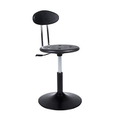 Negro taburete de la barra, silla de estudio Silla cómoda sitio de resto residencia de Estudiantes Hospital de fábrica Sillón de elevación Altura: 40-50 cm ( Color : Black , Size : 40-50CM ) ✅