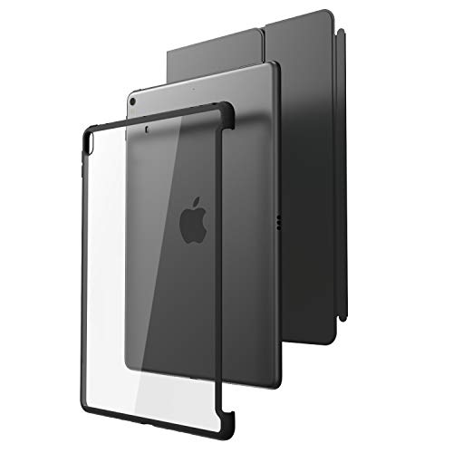 """i-Blason Case for iPad Pro 10.5"""" (2017 Release) and iPad Air 3 10.5"""" 2019 (3rd Generation), [Compatible with Official Smart Cover and Smart Keyboard] Clear Hybrid Cover [Updated Version] (Clear/Black)"""