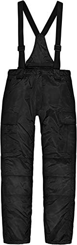normani Herren Winter Thermohose gefüttert mit abnehmbaren Hosenträgern Farbe Schwarz Größe XXL