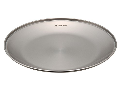 Snow Peak Tableware Plate, TW-034, Stainless Steel, Lightweight for Camping Everyday Use, Made in Japan, Lifetime Product Guarantee