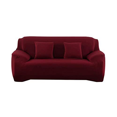 Lucylili Sofabezug für Sessel, geometrisch, für Ecksofas, Pflanzen, Blumen, Sofabezug für 2 und 3 Sitze, weinrot,...