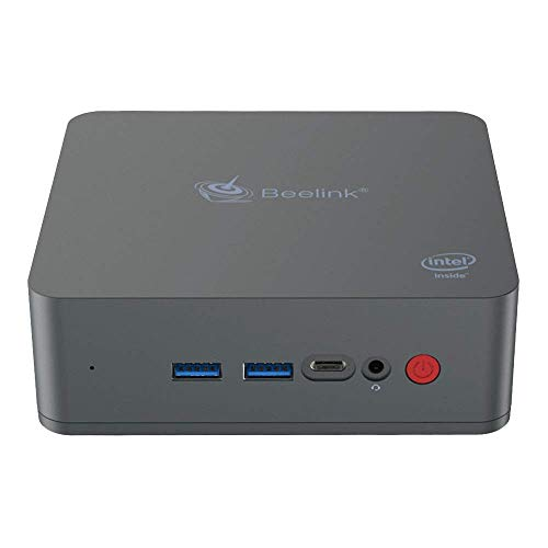 Beelink U55 Mini-PC mit Windows 10, Intel Core i3-5005U-Prozessor, 8 GB RAM + 256 GB SSD, 2,4 + 5,8 GHz Wi-Fi, Intel HD-Grafik 5500, 4K, 1000 M, BT 4.0, Typ C.
