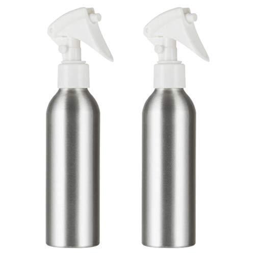 Minkissy 2 Pcs 200 Ml en Aluminium Vaporisateur Vide Rechargeable Brumisateur Atomiseur Pulvérisateur Deau Distributeurs pour Solutions de Nettoyage Cheveux Huile Essentielle
