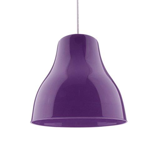 LOVIVER Abat-jour Coloré Suspension Lampe Abat-jour Plafonnier Couverture Lustre Abat-jour - Violet