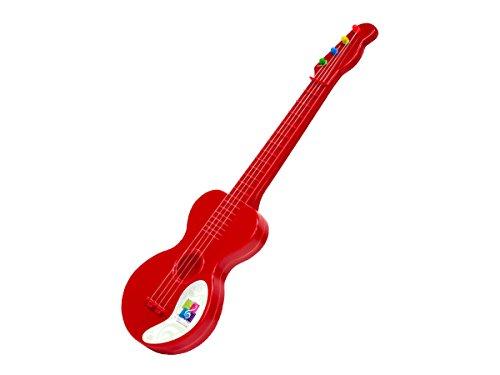 Concerto 707201 Gitarre 40 cm, Kindergitarre aus Kunststoff, Musikinstrument für Anfänger, Spielzeuggitarre zum Lernen, Anfängergitarre für Kinder ab 3 Jahren, Konzertgitarre zum Üben, rot