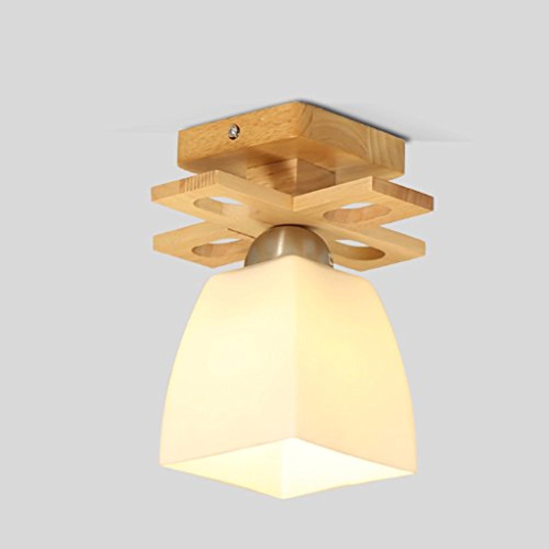 The harvest season- Einfache Deckenleuchte Wohnzimmer mit Decken Holz-Fensterlden Gang-Lichter LED-Massivholz-Lampen (gre   A)