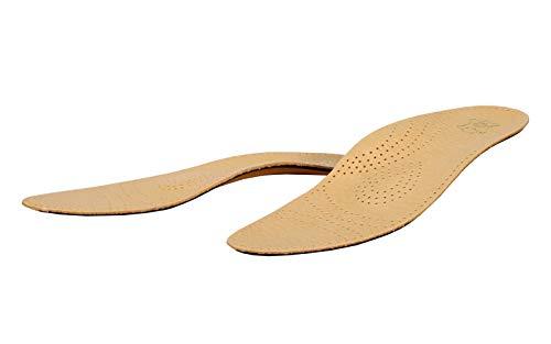 Kaps Schuheinlagen Relax Premium Einlegesohlen aus pflanlich gegerbtem Pecari Leder und Aktivkohle - Pelotte, Mittelfußstütze und Fersenpolster - Größe 43