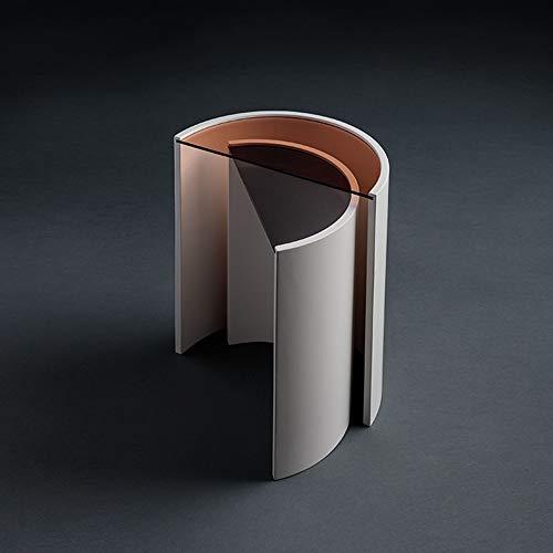 MGWA Adornos nórdicos modernos minimalistas combinados curvados mesa de café de cristal...