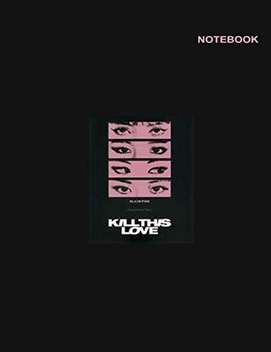 Blackpink merchandise notebook: Lined Writing Notebook, Blackpink Eyes Design Cover,...