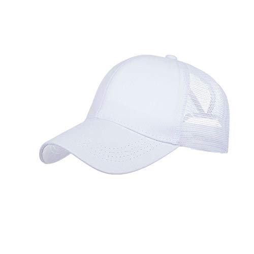 DOLDOA Hut Damen Sommer,Womens Mans Cotton hochwertige bestickte Unisex Baseball Caps einstellbar (Weiß)