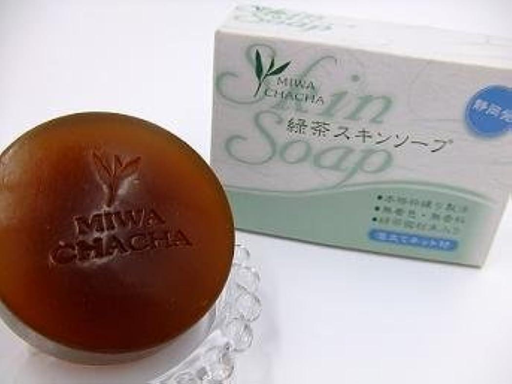 写真拡散する潤滑する緑茶スキンソープ(2個セット)