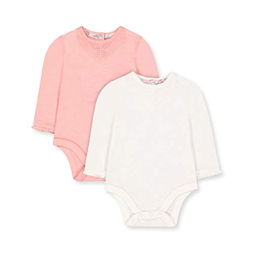 Mothercare NB PF 2pk LS Lace Bodysuits Body, (Lights Multi 213), New Baby (Size:56) para Bebés